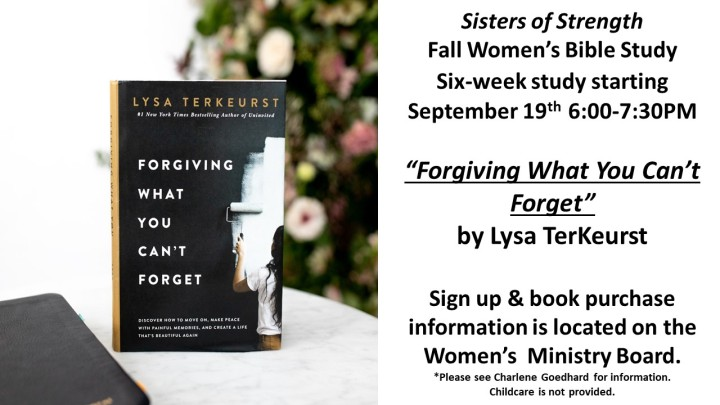 Forgiving What You Can't Forget by Lysa TerKeurst - Bulletin & Website